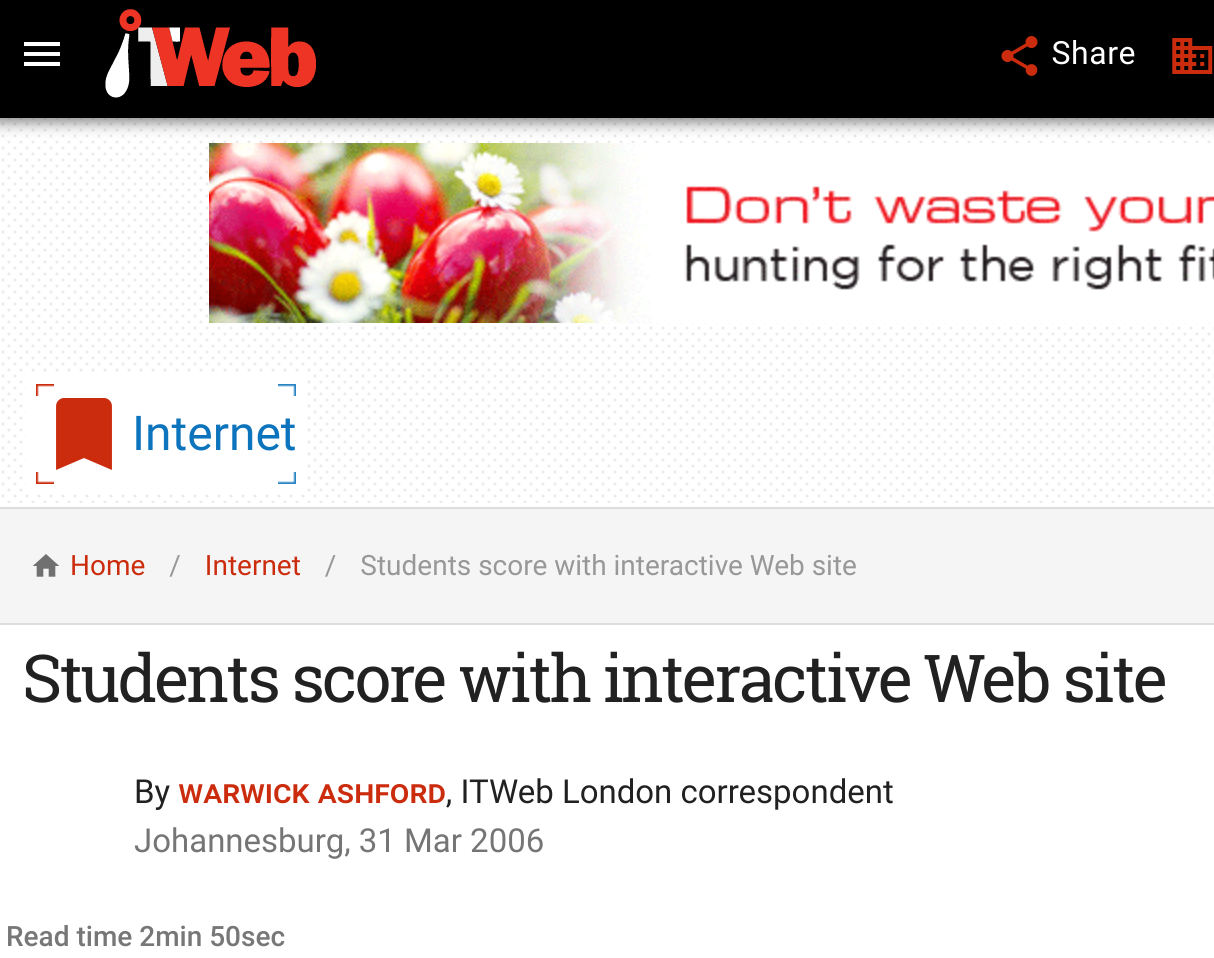 itweb students score